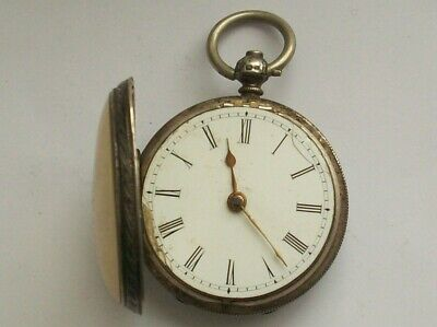Rare Antique Small Solid Silver Fusee Pocket Watch By A. Kenmuir & Son Lisburn