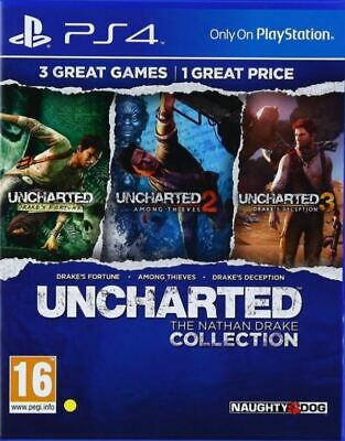 Uncharted The Nathan Drake Collection PS4 NEW UK PAL Sony Playstation 4 NOT HITS