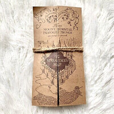 Fold Out Harry Potter Marauders Map