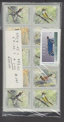 Canada Mint Postage Lot $100.00 Mnh Face For $70.00 See List #121