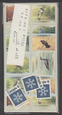 Canada Mint Postage Lot $100.00 Mnh Face For $70.00 See List #128