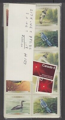 Canada Mint Postage Lot $100.00 Mnh Face For $70.00 See List #127
