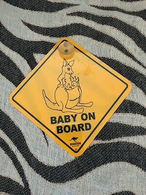 Kangaroo Baby On Board Car Sign