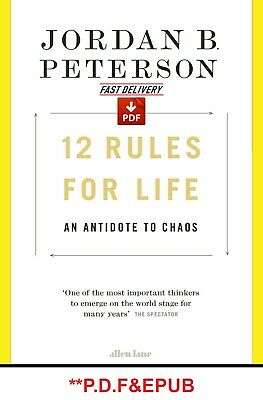 🔥 12 Rules for Life : An Antidote to Chaos by Jordan Peterson 🔥(E-bo0k)