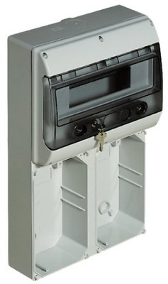 Bticino CQD12020 Central Unit 12 MOD for 2 Interlocked Sockets, Compact, Grey