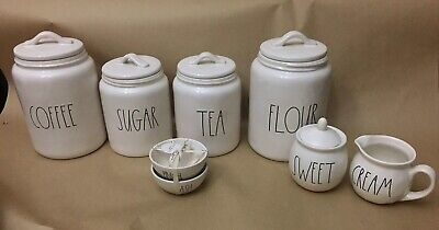 Rae Dunn Canister Set Sugar, Coffee Flour, Tea, Cream Large Letter