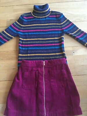 M&S Kids skirt and jumper outfit 6-7