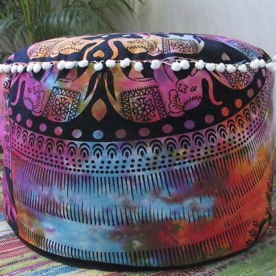 Indian Home Decor Footstool Pouf Cover Ethnic Cushion Cover Beautiful Handmade