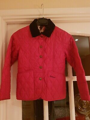 Girls Barbour Luddesdale Quilt Jacket Age 6-7 Years Small