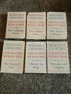 RARE 6 VOL 1st ED Hardback set CASSEL-THE SECOND WORLD WAR By WINSTON CHURCHILL