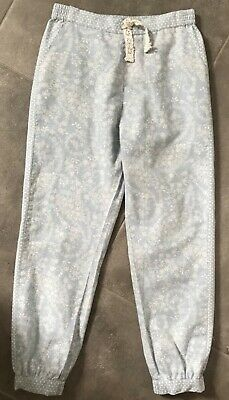 Monsson Girls Light Blue Floral 100% Cotton Trousers Age 7-8 years