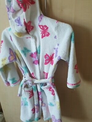 Girls dressing gown age 7-8, Hooded, Butterflies from Marks and Spencer
