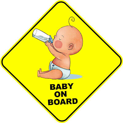 Baby On Board Yellow Car Sticker Children Decal Safety Driving #a0000245