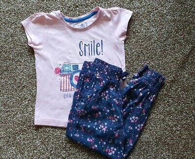Girls Floral Top & Joggers Christmas Outfit UK 3-4 Years