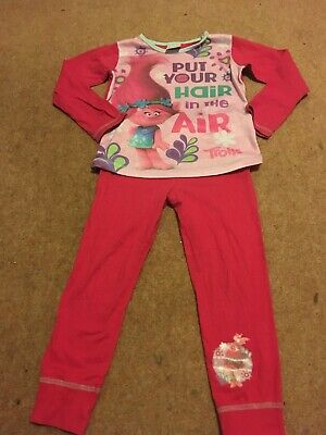 Girls Trolls Pyjamas 4-5 Years