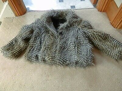 Girls Fake Fur Jacket Age 7 Years *Only Used A Couple Of Times*