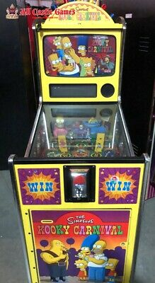 Simpsons Kooky Carnival Redemption Ticket arcade game from Sega Pinball
