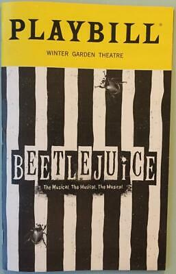 Playbill Beetlejuice The Musical Alex Brightman  Kerry Butler Sophia Anne Caruso