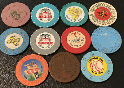 Lot of 11 Nevada Vintage Roulette Casino Chips - Under $2 Each - Blowout Deal #2