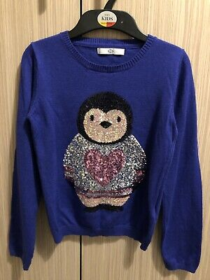 Marks & Spencer M&S Kids Girls Christmas / Xmas Jumper / Top Size 9-10 Years