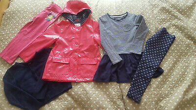 Girls bundle Next raincoat cardi tunic/dress leggings Minions 5-6 yrs FREE P&P