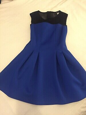 River Island girls  Royal Blue And Black Skater Dress Age 11 12 Years