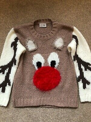 Christmas jumper. Next. reindeer boys girls aged 7, only worn once