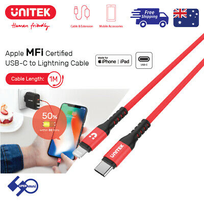 USB-C to Lightning Cable Apple MFi Certified Support PD fast charging Unitek