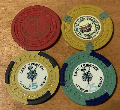 Lot of 4 - Last Frontier Casino Chips - Las Vegas 1940-59 - Book Value $150-$190