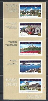 Canada TOURIST ATTRACTIONS BOOKLET PANE SCOTT1904 VF MINT NH (BS13663)