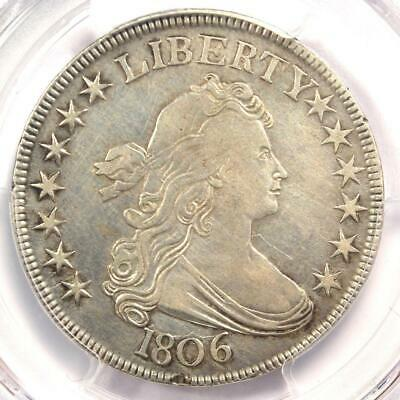 1806 Draped Bust Half Dollar 50C Coin O-118a - Certified PCGS XF Detail - Rare!