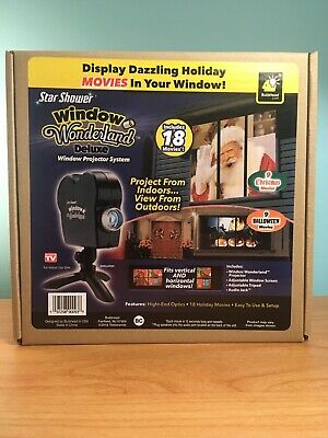 Star Shower Window Wonderland Deluxe Movie Projector System Xmas Brand New BNIB