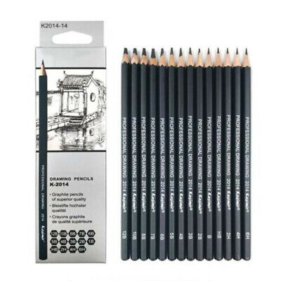 14 Pieces Set Sketch Pencil Drawing 6H-12B Art Tool Non-toxic Kit For Artists