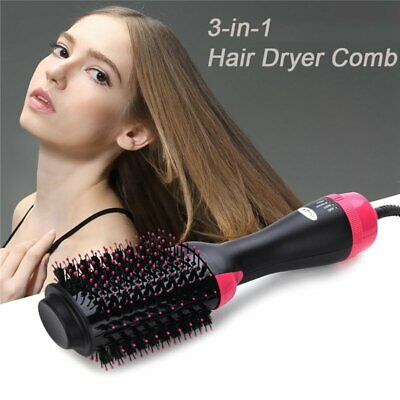 3 In 1 One Step Hair Dryer Comb and Multi-Functional Brush Straightener Curler