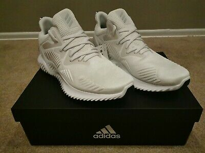 Nib Adidas Alphabounce Beyond Boost M Running Shoe's White On White Men's 12