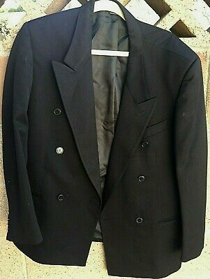 Men's Coat Blazer Suit Italian Enzo Tovareh Chest-43, Waist-42.5 Wool 42S