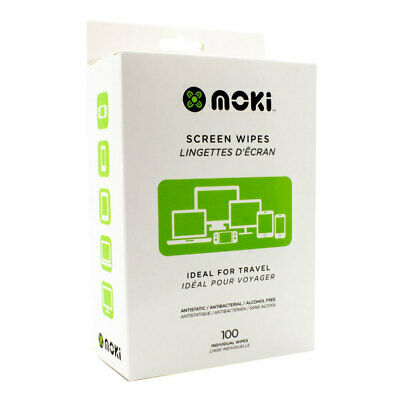 100pc Moki Screen Clean Disposable Wipes Cleaner for Laptop/Screen TV Monitor