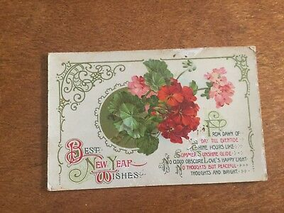 New Years Wishes Card 1900 Wildt & Kray