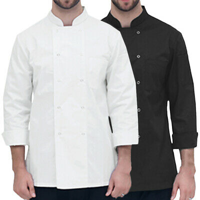 Mens Womens Professional Chef Jacket Uniform Workwear Restaurant Outfit Shirts
