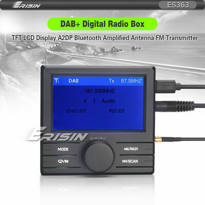 DAB+Radio Tuner Box+TFT LCD Display+FM Transmitter+Bluetooth+Amplified Antenna