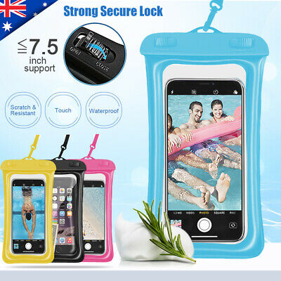 AU Floating Waterproof Underwater Phone Seal Case Dry Bag Pouch for Mobile Phone