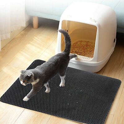 Cat litter Mat Waterproof Double Layer Pad -Large Flexible Trapping for Box Pan