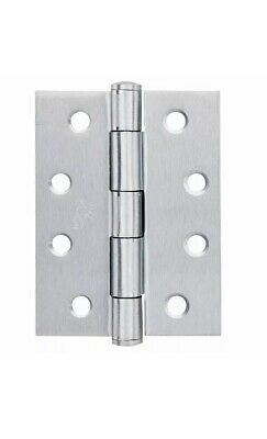 20 X Trio DOOR BUTT HINGE Fixed Pin Stainless Steel 100x75x2.5