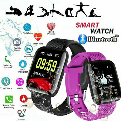 Smart Montre Bracelet de fréquence cardiaque Fitness Blood Pressure Tracker
