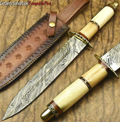 Cutlery Salvation Hand Forged Damascus Steel Blade Dagger Knife |