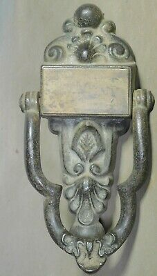 Antique Georgian Cast Iron Brass George IV Ornate Door Knocker 1825 Architecture