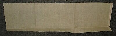 Pure Linen Fabric Piece To Stitch Embroider 30 Count 69 x 19cms Oblong Neutral