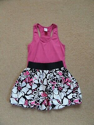WORN ONCE! Girl's DESIGNER Outfit by PLUM Top & Puff Skirt From USA Age 6-7