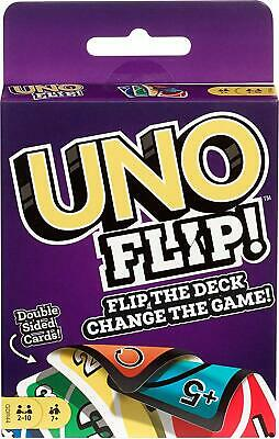 Mattel Games GDR44 Flip Card Game, Multi colored Exciting New Twists From Uno