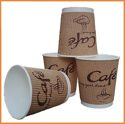1000 Disposable Coffee Cups 8oz Paper Cups Kraft Cups For Hot And Cold Drink